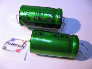 Panasonic 1500UF 25V Radial Electrolytic Capacitors NOS 5Pcs