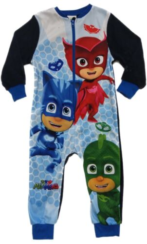 Official PJ Masks All In One Fleece Boys Girls Kids Childrens Character 2 3 4 5