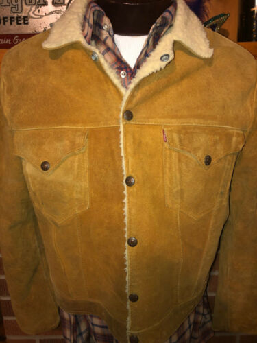 LEVI'S Vtg 1950s 60s SHORTHORN Leather Suede BIg C