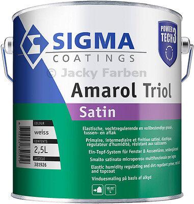 2,5 Ltr Sigma Amarol Triol Satin Power Tech 3 Fensterlack Ventilationslack