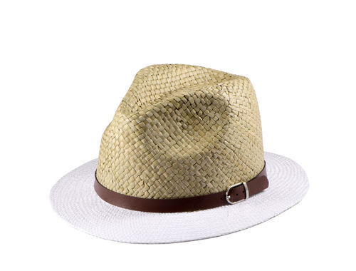 Miuno® Herren Partyhut Panama Strandhut mit breiter Krem Gürtelband H51023
