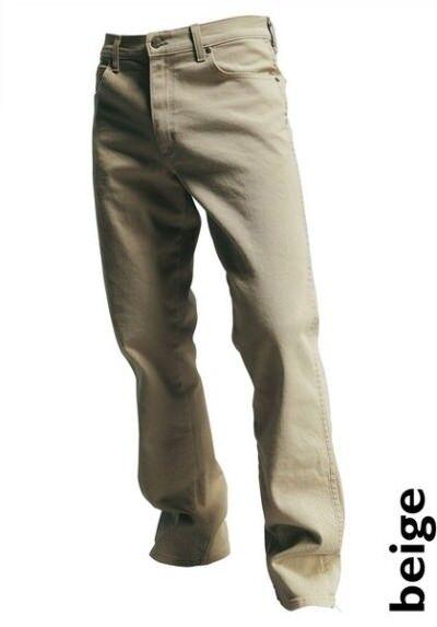 WRANGLER WRANGLER WRANGLER Jeans Stretch Regular durable w34-w38 l30 NUOVO UOMO DENIM PANTALONI BEIGE 788ef4