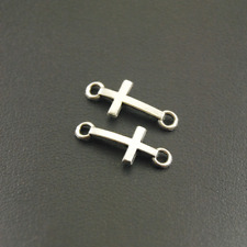 6 Blessed Cross Charms Antique Silver Tone SC6110