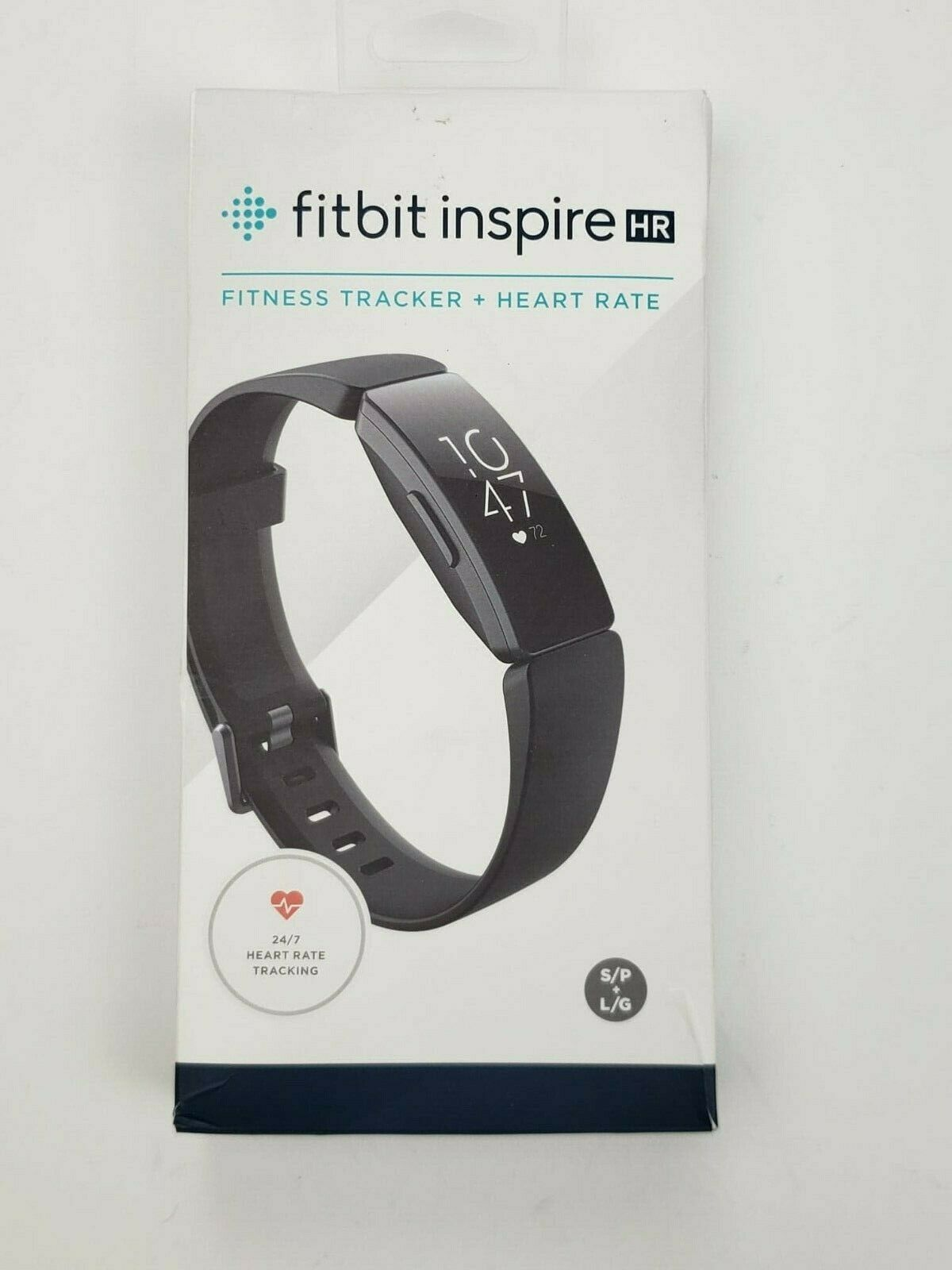 Fitbit, Inspire HR Fitness Tracker & Heart Rate Monitor, Black Case & Wristband black case fitness heart inspire rate tracker wristband