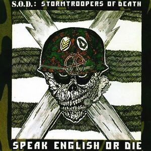 S.O.D Speak English Or Die Vinyl LP Cover Sticker or Magnet
