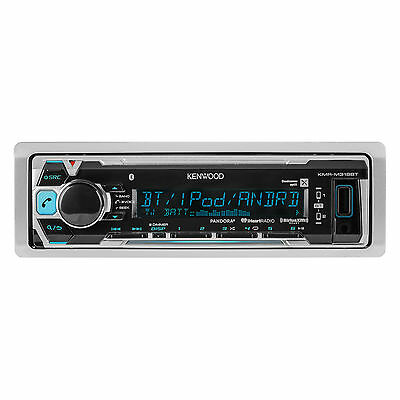Marine Bluetooth Kenwood KMR-M318BT Digital USB Stereo iPod iPhone Pandora Ready