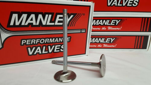Manley 409 Chevy 1.750 Stainless Race Exhaust Valves 5.105 x .3715 11313-8