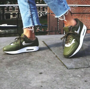 Nike Air Max 1 Se Damen Metallic Glitzer Spark Sneaker Olive UK 5,5 ...