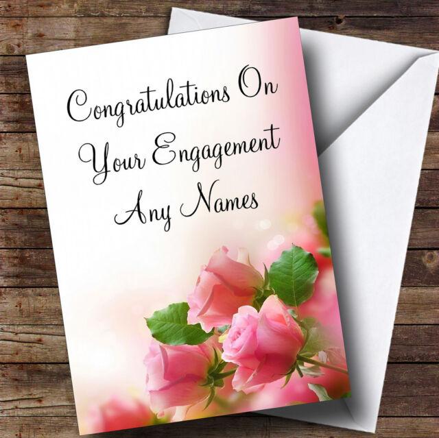 Soft pink pastel roses personalised romantic engagement greetings beautiful soft pink pastel roses personalised romantic engagement greetings card m4hsunfo