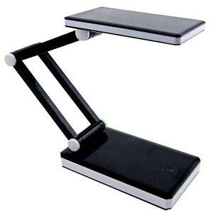 Triumph Rechargeable Black Folding Desk Lamp Table Light
