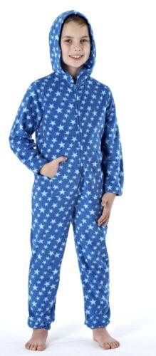 Boys Teens Star Hooded All In One Pyjamas ✔Onesies✔Jumpsuits✔Sleep Suits