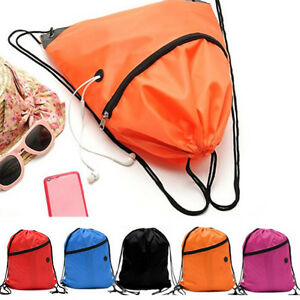 92f79572df69 Image is loading Swimming-Drawstring-Backpack-School-Beach-Sport-Sack-Gym-