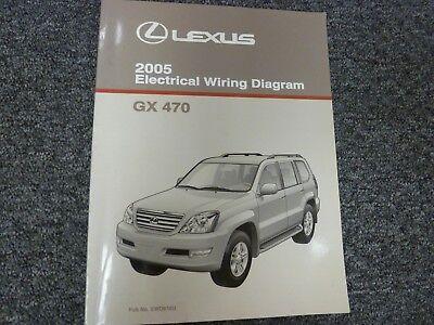 2005 Lexus Gx 470 Suv Electrical Wiring Diagram Manual 4 7l V8 4wd No Ewd616u Ebay