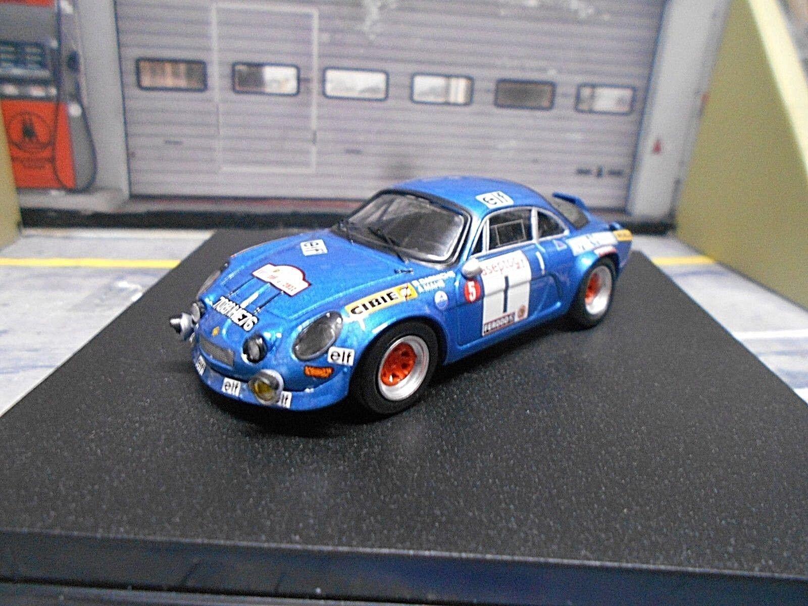 Renault alpine a110 Rally Tour de Corse 1972  1 Darniche mahe 4th Trofeu 1 43
