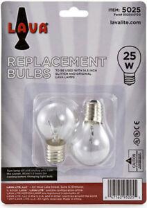 2 Pack Lava Lamp 25 Watt Replacement Bulbs For 14 5 20oz Lamp Ebay