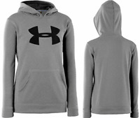Under Armour Storm Youth Kids Hoodies Hooded Sweatshirts, Gray/black 1240249