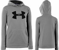 Under Armour Storm Youth Kids Hoodies Hooded Sweatshirts, Gray/black 1240249