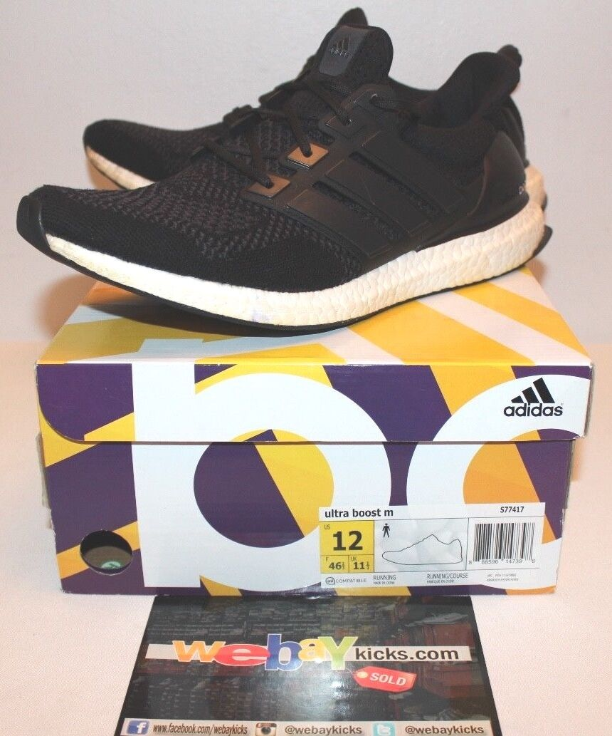 Adidas ultra impulso m 1,0 nero grigio e bianco uomo numero 12 s77417 usato.