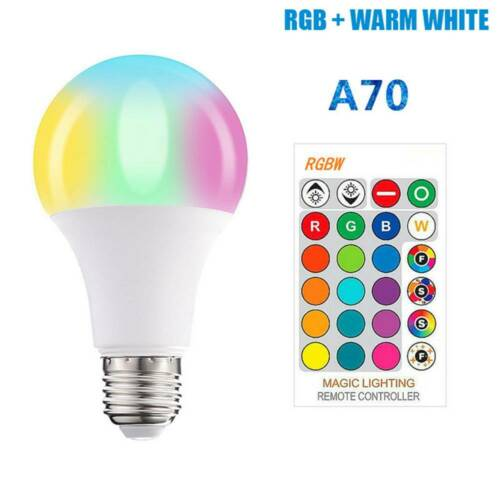 15W E27 LED RGB Farbwechsel Magic Lamp Glühbirne Fernbedienung 5W 10W