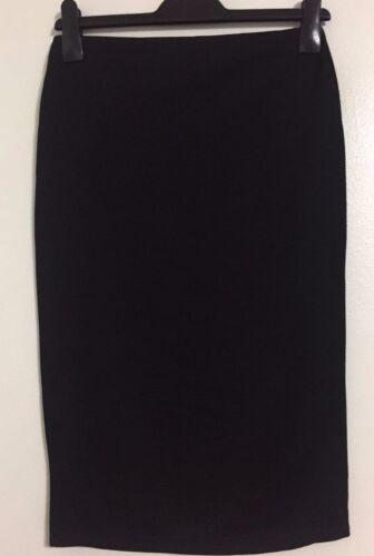 Nouveau Ex noir Taille 10-20 taille haute Côtelé Taille Élastique Travail Fête Jupe