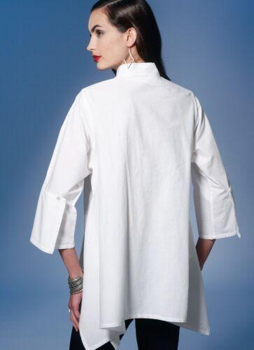 patrón de costura de moda para señoras fácil 1274 ajuste flojo asimétrico.. Gratis Reino Unido P/&p