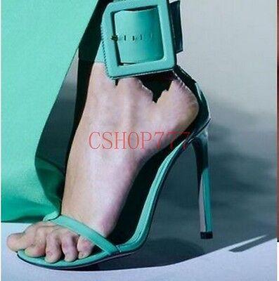 Women Open Toe Sexy High Heels Formal Stilettos Fashion Ankle Belt Buckle Shoes