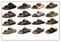 Birkenstock Arizona Sandals 2 Strap Slides Cork Footbed