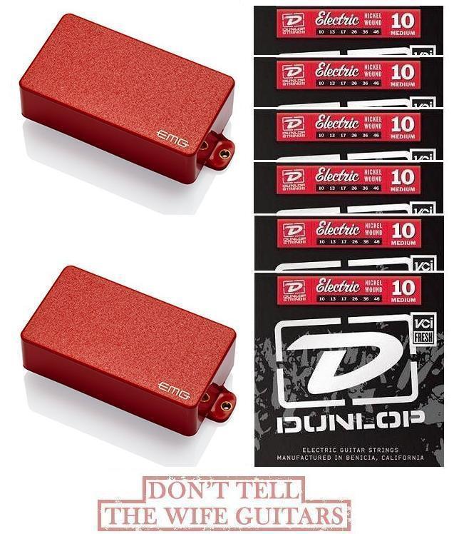 Emg 81 + 60 Rojo Activo Humbucker Humbucker Humbucker Pickup conjunto corto eje POTS (6 conjuntos de cuerdas)  descuento de bajo precio