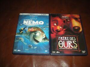 LOT-2-DVD-DISNEY-LE-MONDE-DE-NEMO-FRERE-DES-OURS-EDITIONS-COLLECTORS-2-DVD