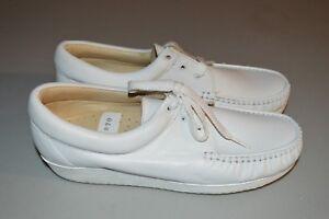 Women's CLINIC Jenny #516 White Leather Tie Oxford Comfort Shoe Size 10 W