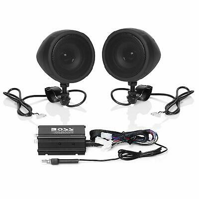Boss Audio MC520B 600w RMS Bluetooth Speakers Handlebar System Motorcycle//ATV