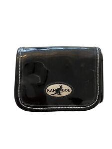 Kangol-Women-039-s-Black-Patent-Purse