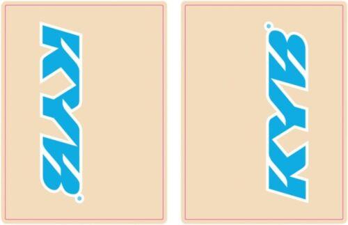 Fludesigns Fourche Autocollants Fourche Protection Autocollant Fourche Film Protection KAYABA Bleu