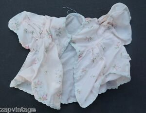 Vintage-1940-039-s-Flower-Shabby-Chic-Flower-Blouse-Doll-Play-Clothes-Clothing