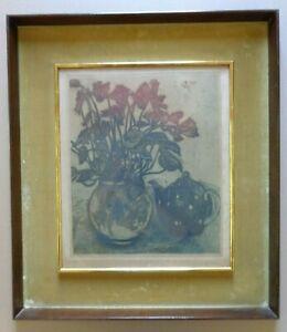 JEHAN FRISON (1882-1961) / LES CYCLANNES / KLEURETS / 64x56cm / KADER / SIG
