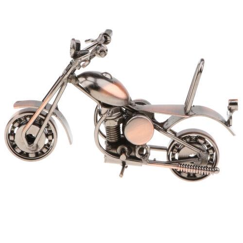 Vintage Motorrad Skulptur Diecast Model Metalwork Heimtextilien