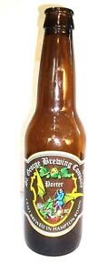 St. George Brewing Company Stout Empty Beer Bottle Dragon Knight Sword Spear