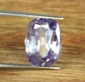 Birthday Gift 9.45 Ct Cushion Purple Sapphire Natural Gemstone Certified A54757