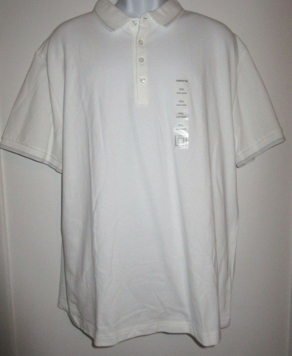 MEN'S NEW WITH TAGS LIZ CLAIBORNE WHITE POLO SHIRT XXL