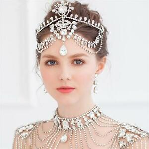Details about Vintage Wedding Bridal Crystal Queen Frontlet Crown Tiara Headbands  Prom Jewelry 468f6b95b15
