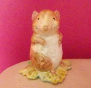 Timmy Willie Bp2a Gold Oval Rare Beswick Beatrix Potter Figure Perfect !!