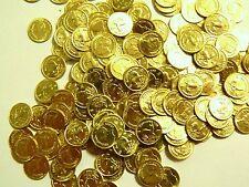 100 ct Gold tone pirate coins Uncirculated 44 grams 8-22k bar scrap plated Krug