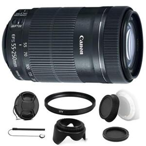 Canon-EF-S-55-250mm-F4-5-6-IS-STM-Lens-w-Kit-for-Canon-EOS-70D-77D-amp-80D