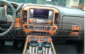 Image Is Loading GMC SIERRA 1500 2500 DENALI INTERIOR WOOD DASH