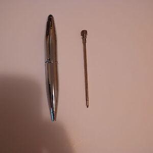 Image Is Loading Efx Ballpoint Pen Miniature 10cm Women Silver Steel