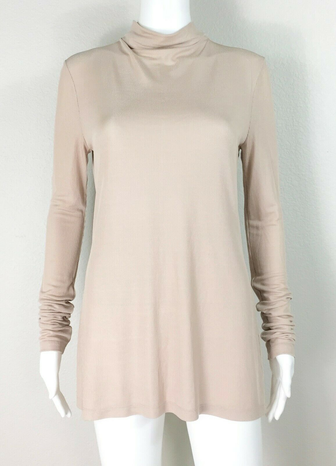 MM LAFLEUR The Keaton Turtleneck Top Long Sleeve Buttermilk Größe Medium - NTSF