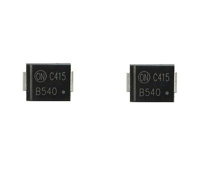 10PCS MBRS540T3G Schottky Diode ON Semiconductor, 40V 5A SMD