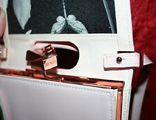 TED BAKER Nude Pink Square Crystal Purse Patent Leather Cross Body Bag RRP £119