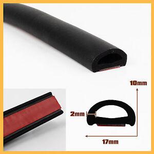 1m flat d shape door trunk rubber seal strip weatherstrip edge trim adhesive new ebay. Black Bedroom Furniture Sets. Home Design Ideas