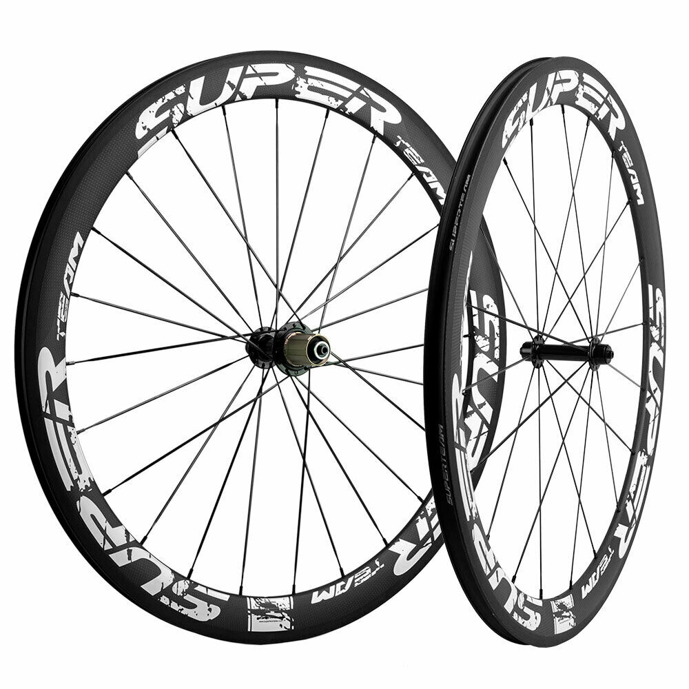 700C 50mm Carbon Wheelset R13 R7 Hub Superteam  Cycling Carbon Wheels 20-24 F&R  up to 60% discount